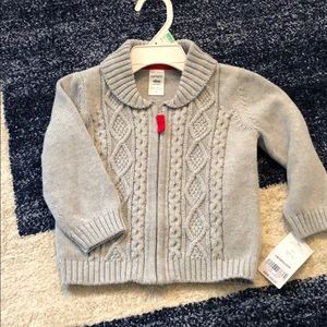 NWT! Carter's gray sweater size 18M